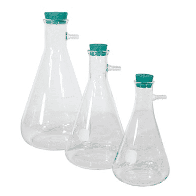 Filter Flasks And Rubber Stoppers With Fitting Myers